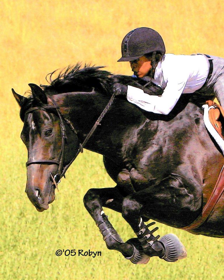 Donna Cheek Equestrian Black Female Equestrians