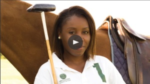 Black female polo player Uneku