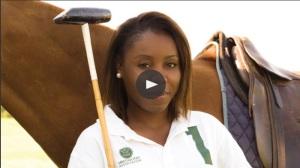 Black female polo player Uneku